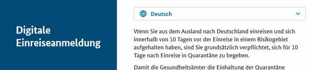 Digitale Einreiseanmeldung aus den Malediven nach Deutschland