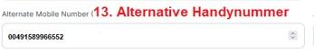 Imuga: Alternative Handynummer