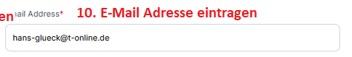 Imuga: Tragen Sie Ihre E-Mail Adresse ein