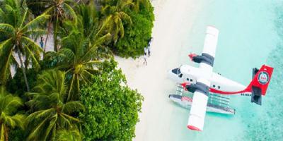 Wasserflugtransfer zum Interconti Maldives