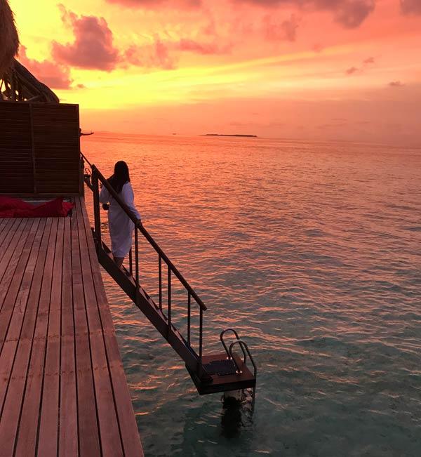 Sunset am Emerald Maldives