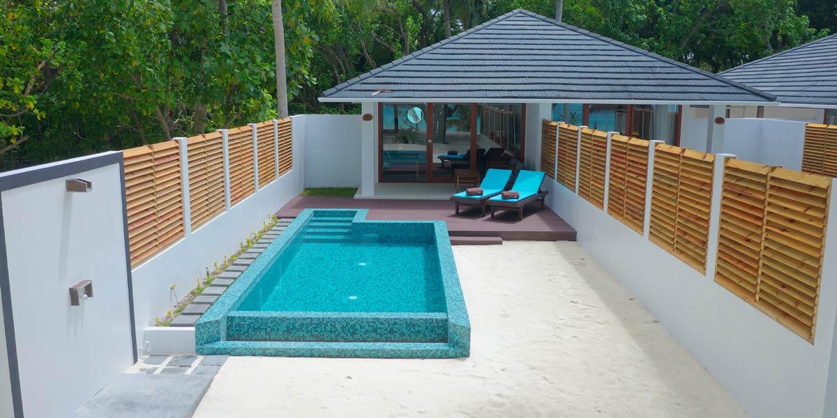 Terrasse und Pool, Beach Pool Villa, Sun Island Resort