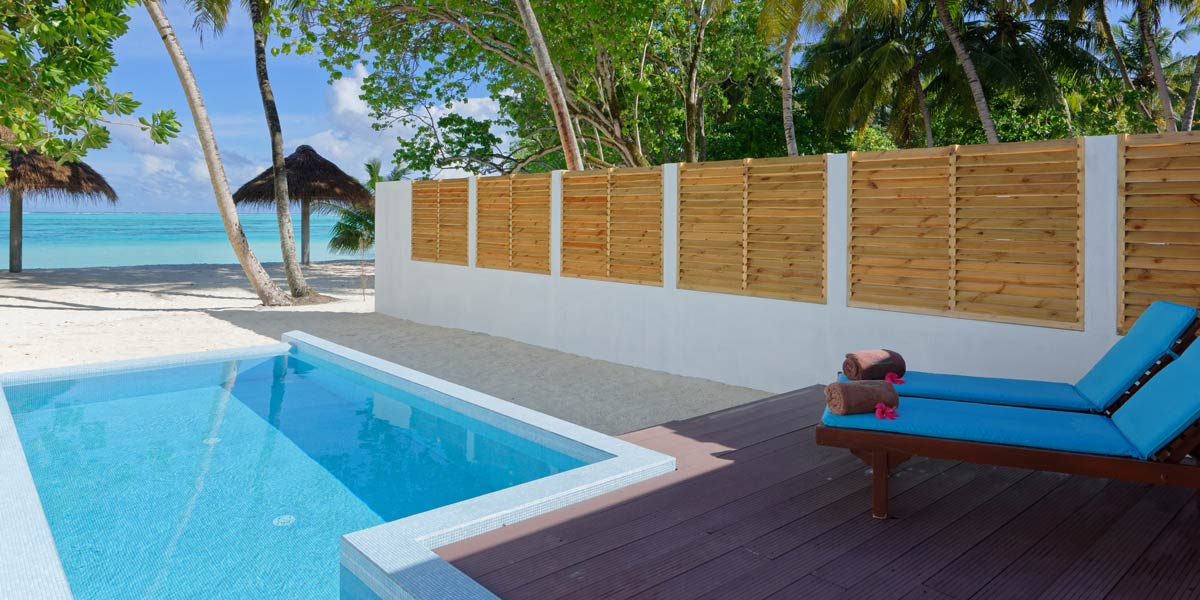 Privater Strandabschnitt, Beach Pool Villas, Sun Island Resort & SPA
