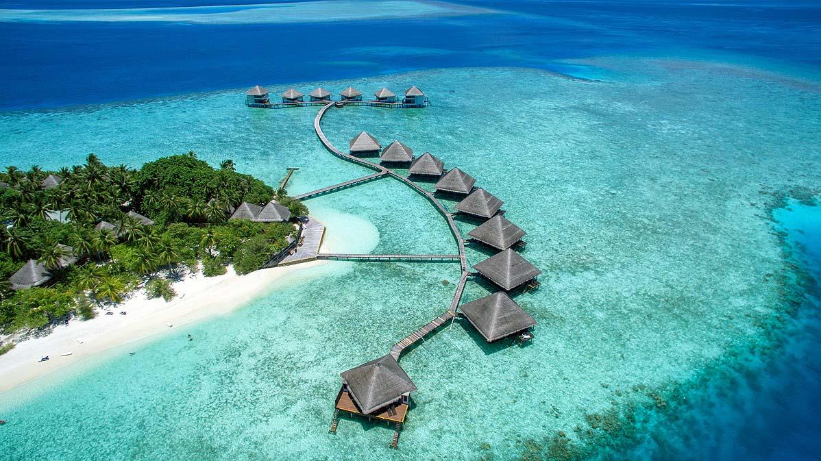 Luftaufnahme Wasserbungalows | Adaaran Club Rannalhi