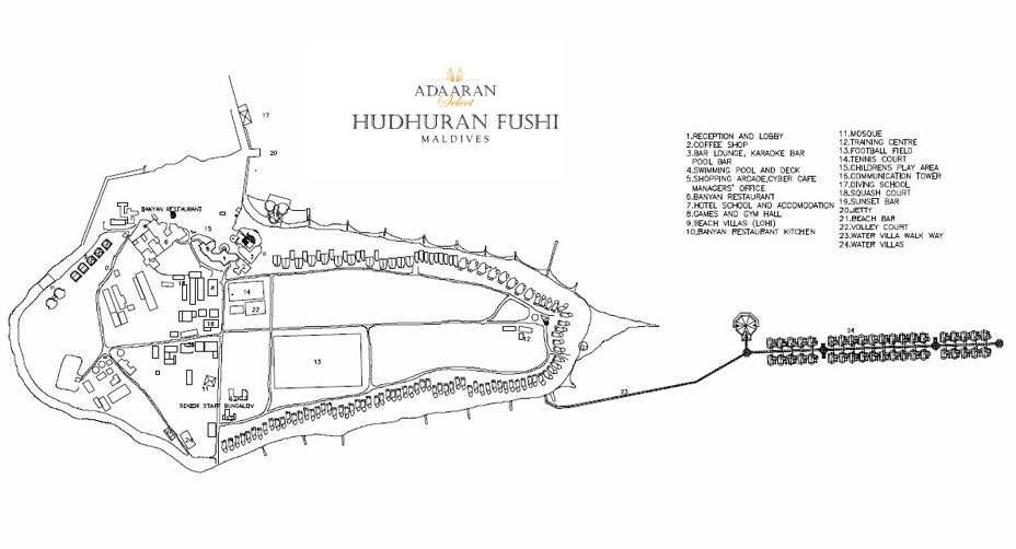 Lageplan Adaaran Select Hudhuranfushi