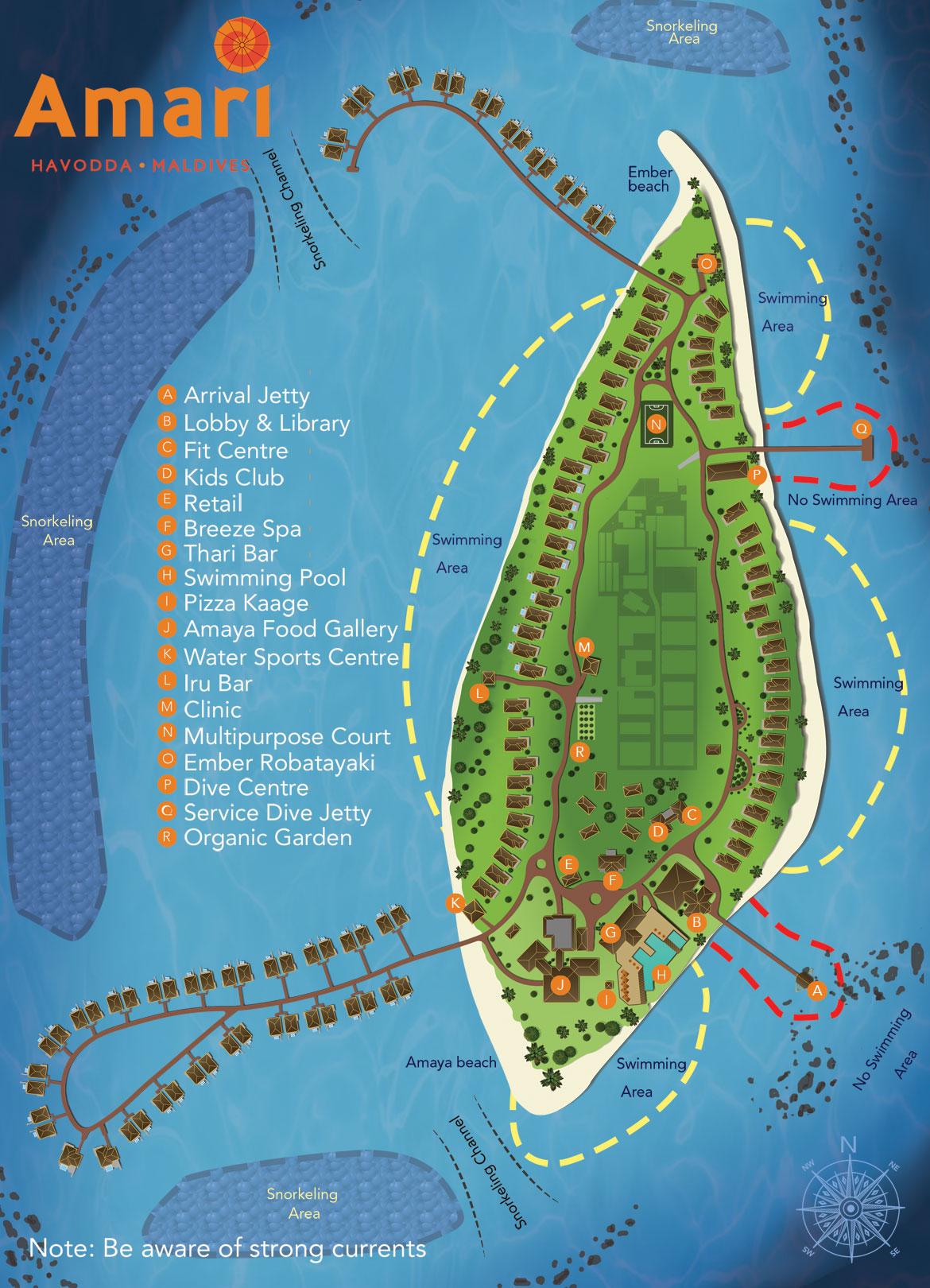 Lageplan Amari Havodda Maldives