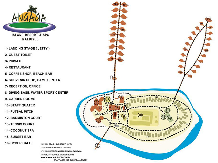 Lageplan Angaga Island Resort & Spa
