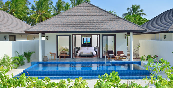 Sunset Beach Villa mit Pool, Atmosphere Kanifushi Maldives