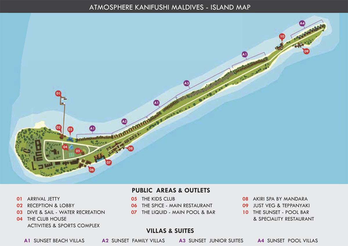 Lageplan Atmosphere Kanifushi Maldives