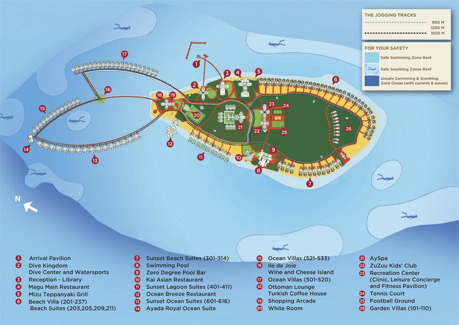 Lageplan Ayada Maldives