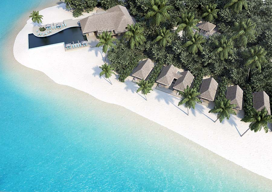 Hauptpool, Beacg Villas,  Baglioni Resort Maldives
