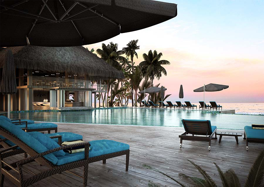 Mainpool, Baglioni Resort Maldives