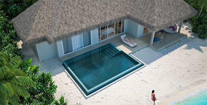 Pool Grand Beach Villa, Baglioni Resort Maldives