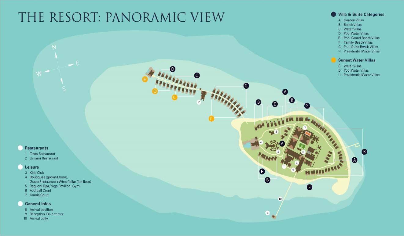 Lageplan Baglioni Resort Maldives