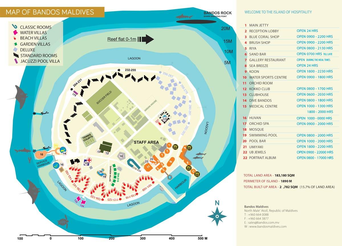 Lageplan Bandos Maldives