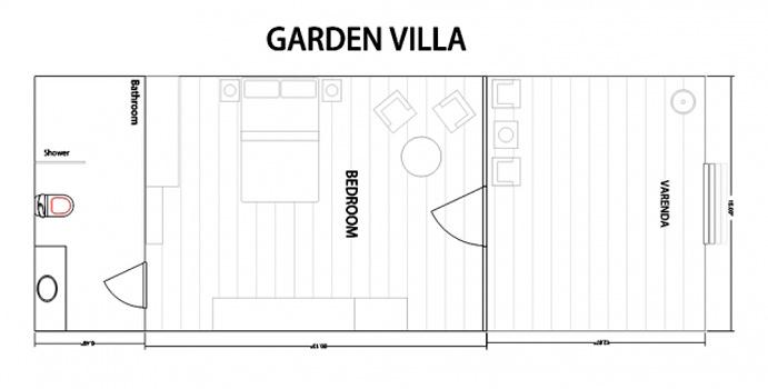 Grundriss Garden Villa, Bandos Maldives