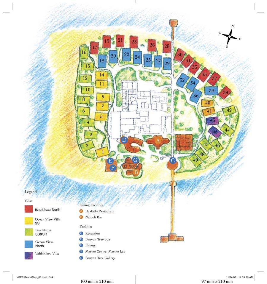 Lageplan Banyan Tree Vabbinfaru