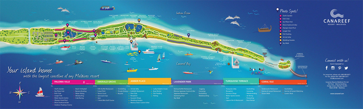 Lageplan Canareef Resort Maldives