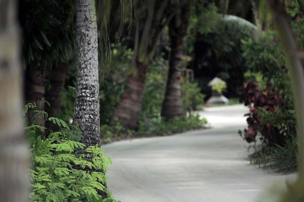 Sandstrassen, Wege im Canareef Resort, Malediven