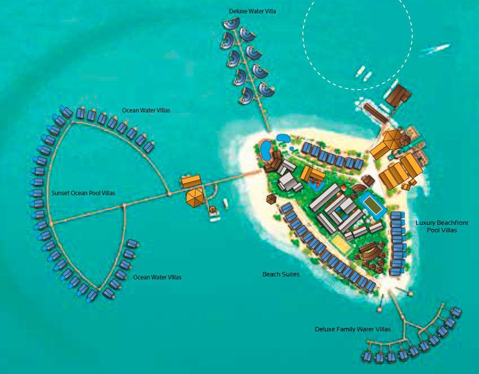 Lageplan Centara Grand Island Resort & Spa