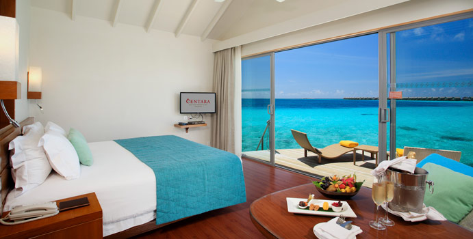 Deluxe Water Villa, Centara Ras Fushi Resort & SPA