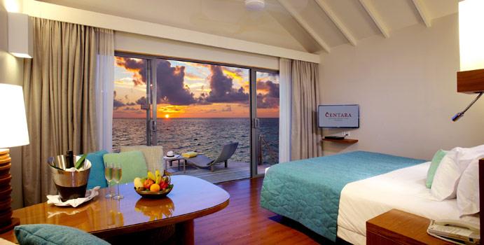 Deluxe Sunset Water Villa, Centara Ras Fushi Resort & SPA