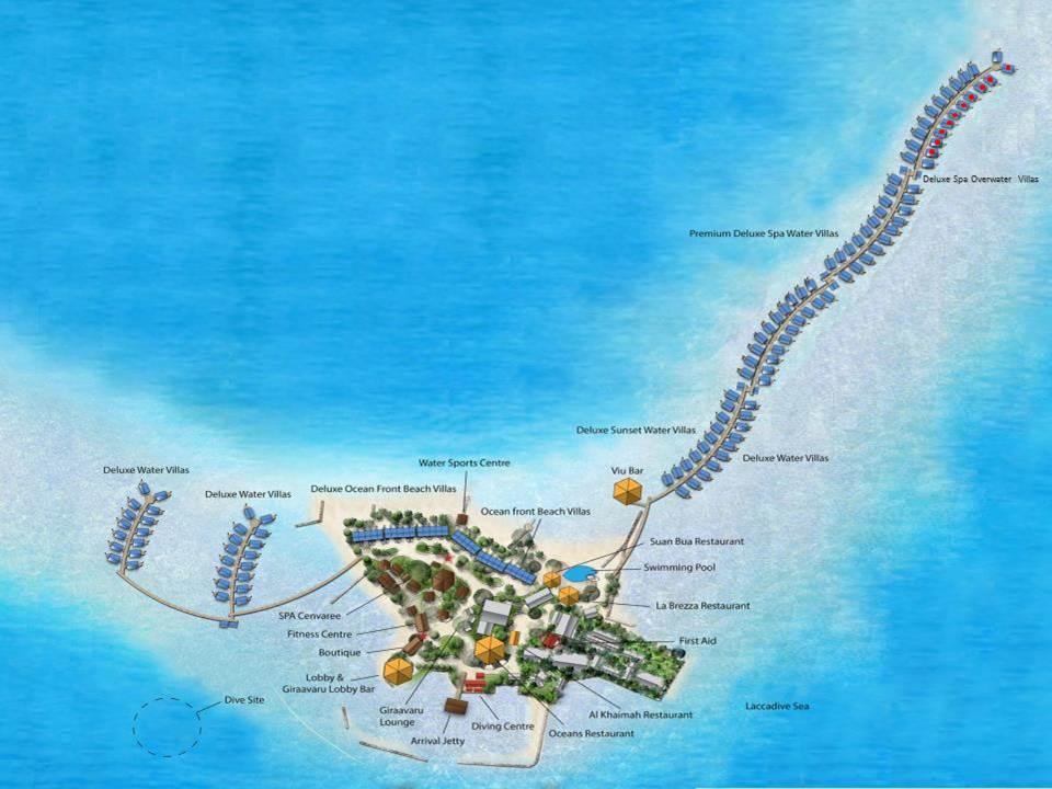Lageplan Centara Ras Fushi Resort & Spa