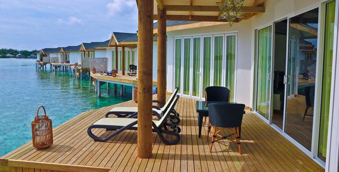 Terrasse, Over Water Suites, Cinnamon Dhonveli Maldives