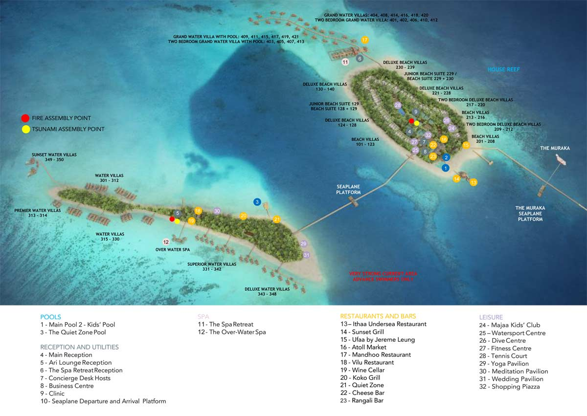 Lageplan Conrad Maldives Rangali Island