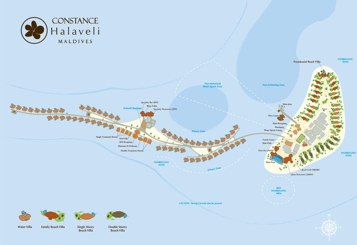 Lageplan Constance Halaveli Resort