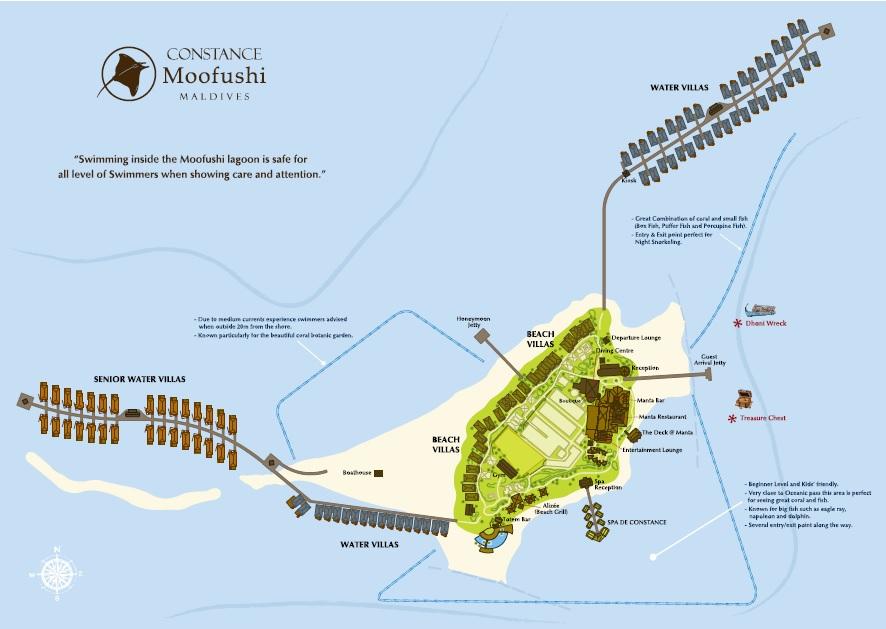 Lageplan Constance Moofushi Resort