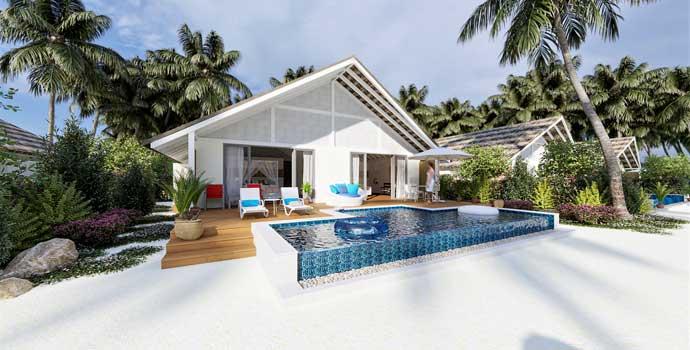 Two Bedroom Family Beach Pool Villa, Cora Cora Maldives