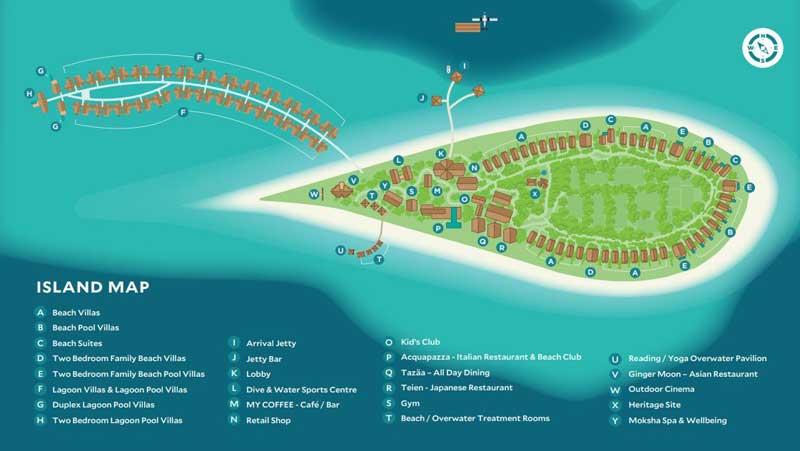 Lageplan Cora Cora Maldives