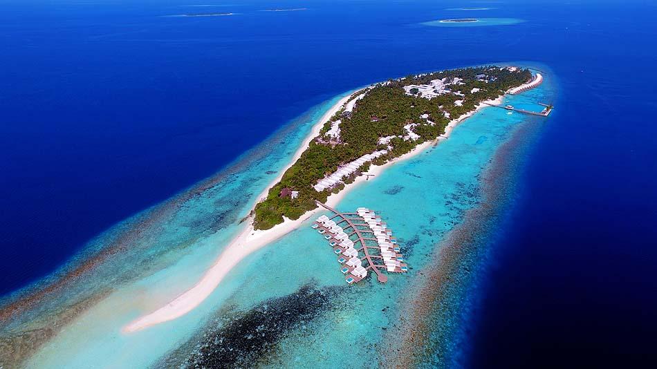 Gesamtansicht der Insel, Dhigali Maldives