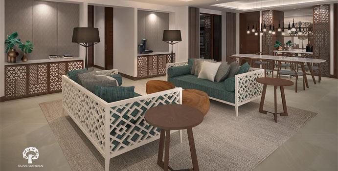 Wohnzimmer, Dhigali Suite, Dhigali Maldives