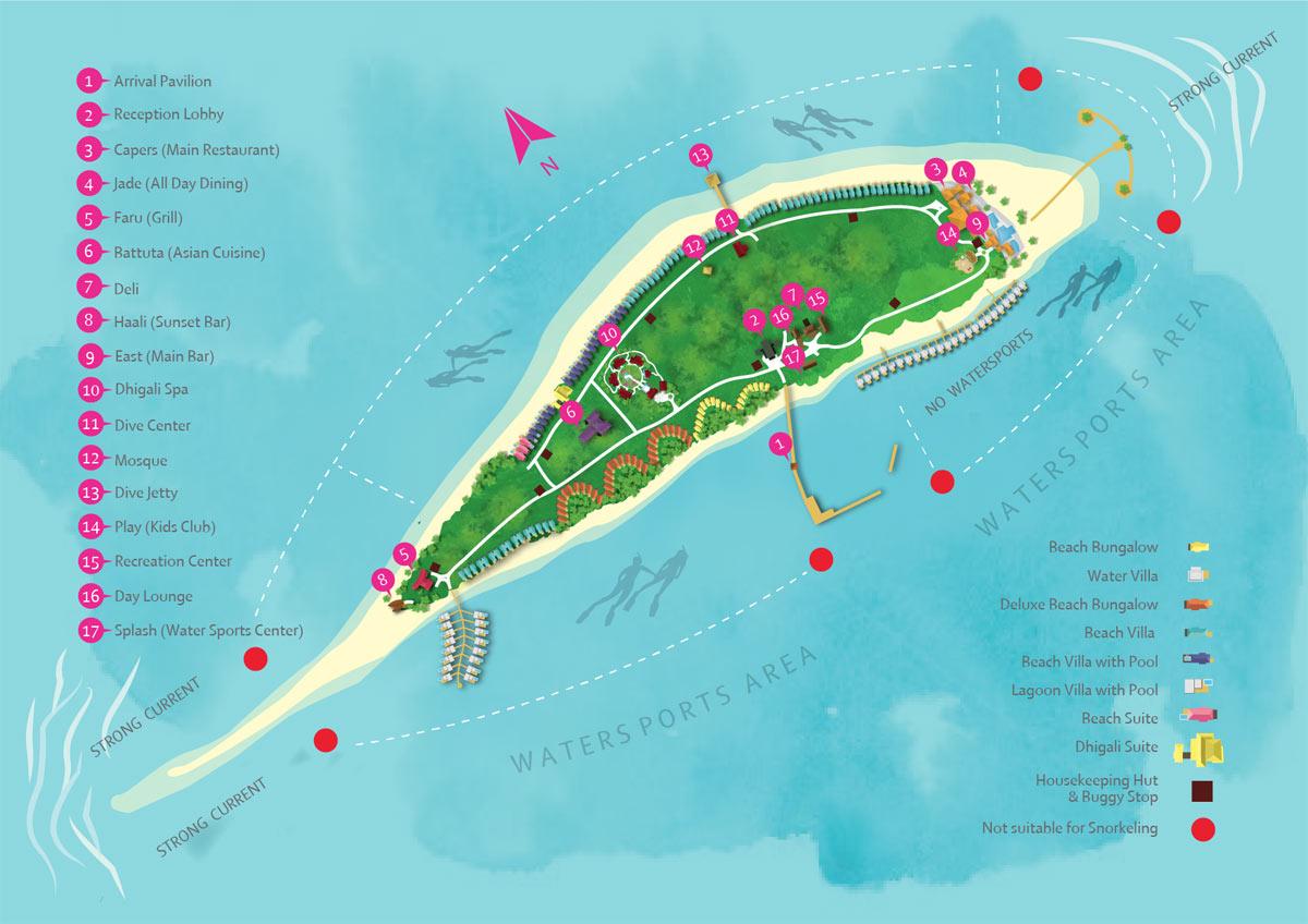 Lageplan Dhigali Maldives