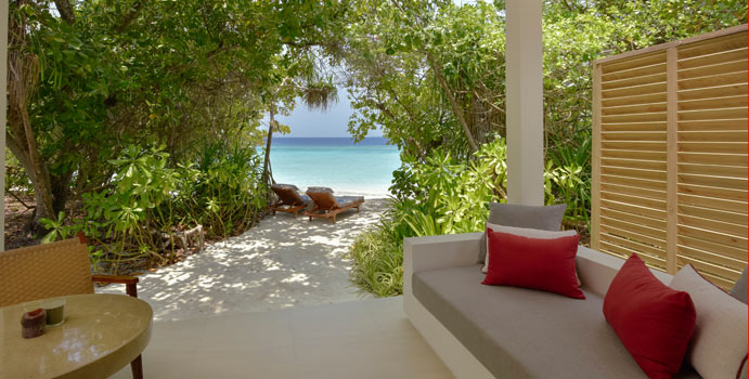 Strandzugang, Deluxe Beach Bungalow, Dhigali Maldives