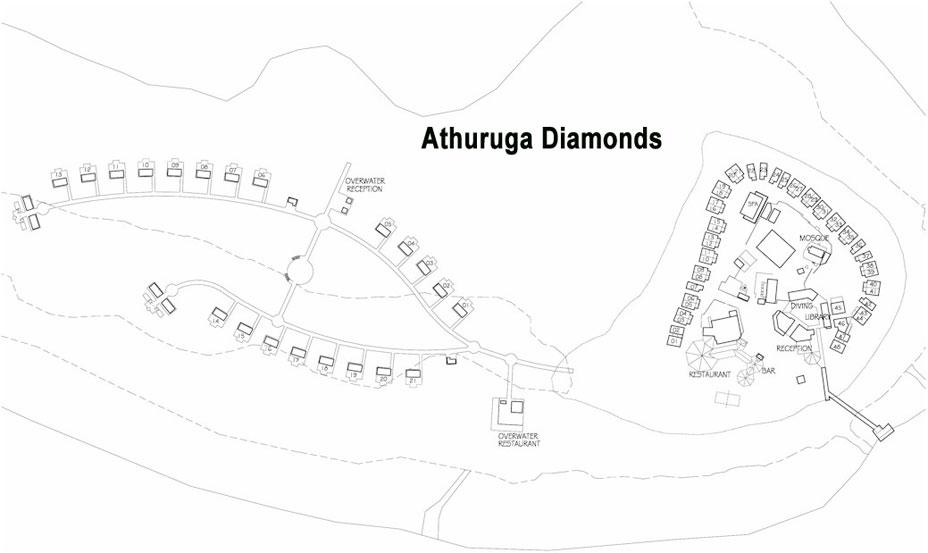 Lageplan Diamonds Athuruga Beach & Water Villas