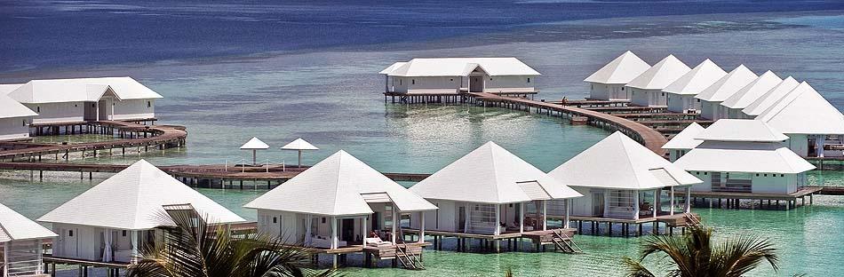 Blick auf Water Villas, Diamonds Athuruga Beach & Water Villas, Maldives