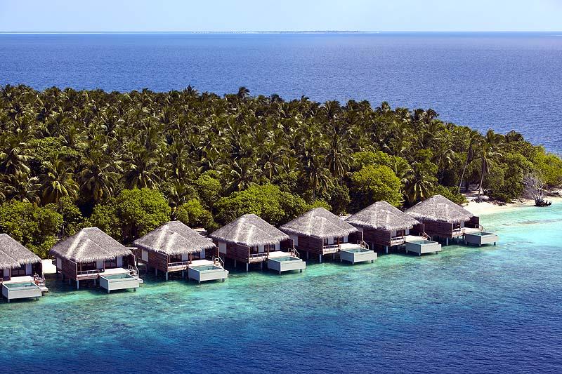 Aussenansicht, Water Villen, Dusit Thani Maldives