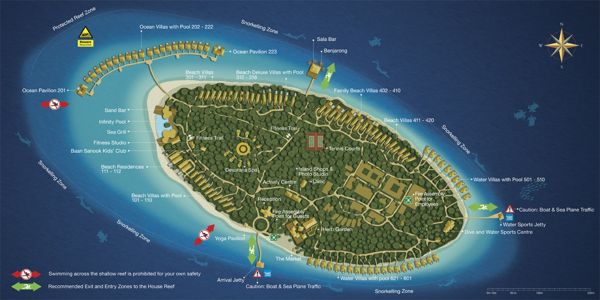 Lageplan Dusit Thani Maldives