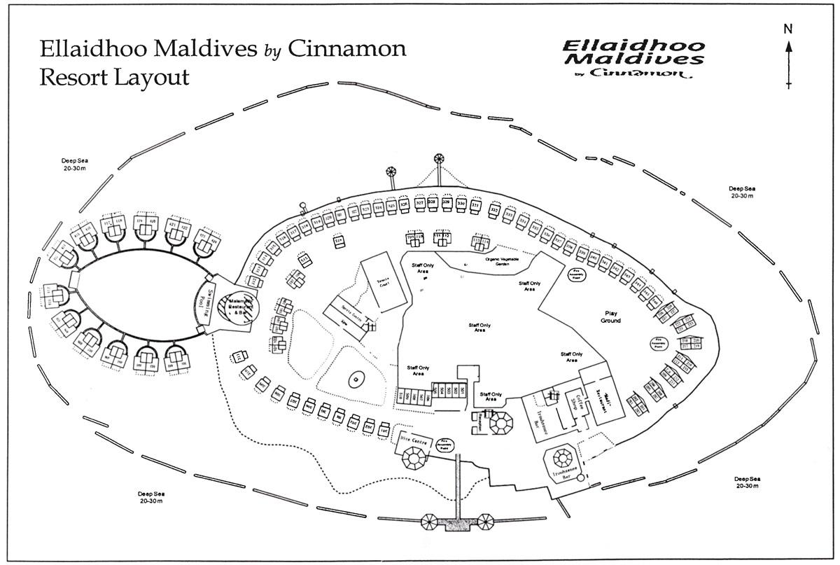 Lageplan Ellaidhoo Maldives by Cinnamon