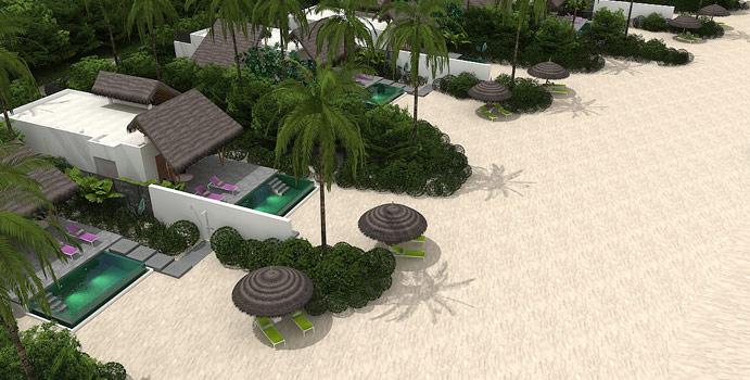 Modelbilld der Beach Pool Villen