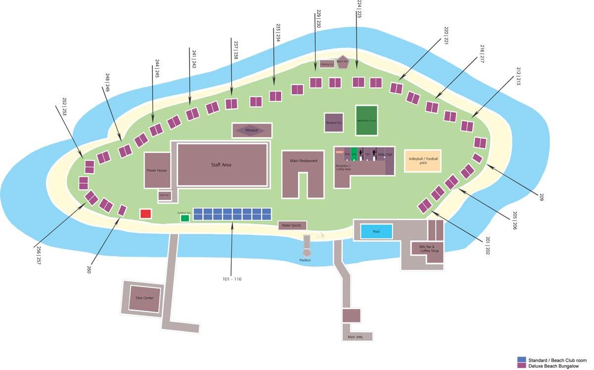 Lageplan Eriyadu Island Resort