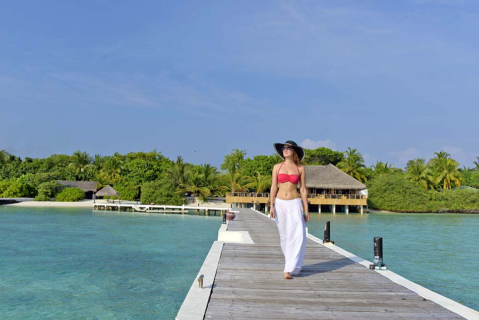 Ankunftssteg, Model, smartline Eriyadu, Maldives