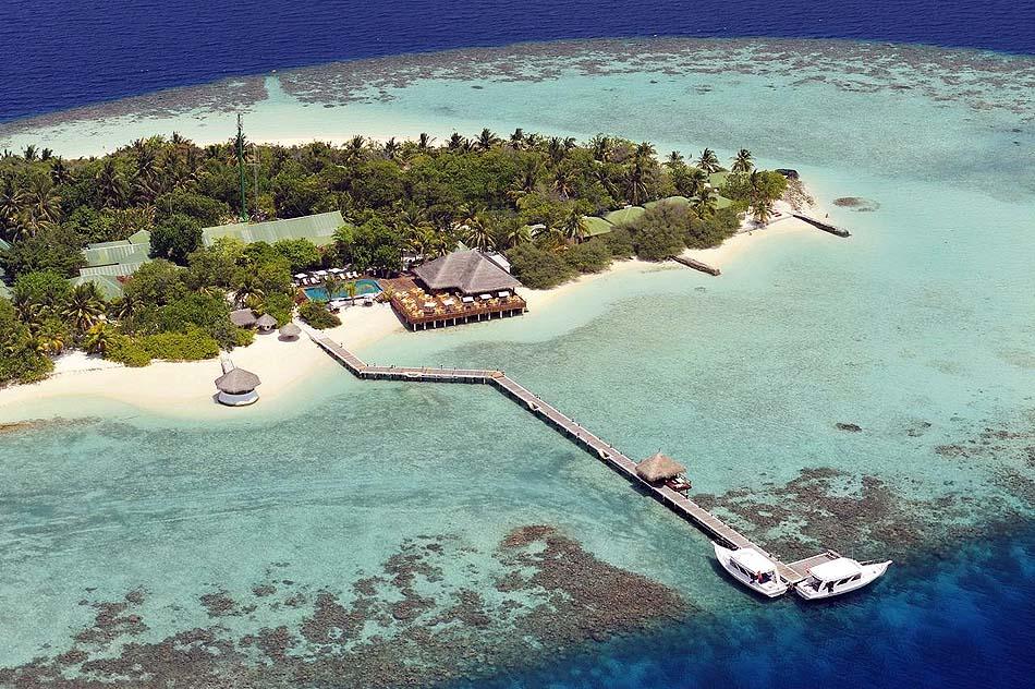Blick von vorne auf die Insel, smartline Eriyadu, Maldives