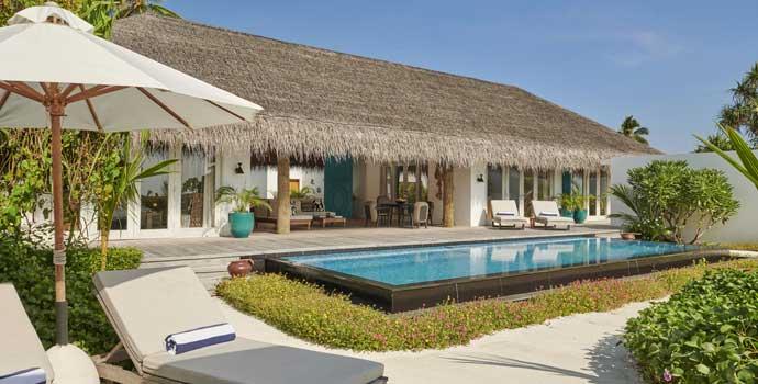 Three Bedroom Beach Sunset Villa, Fairmont Maldives Sirru Fen Fushi