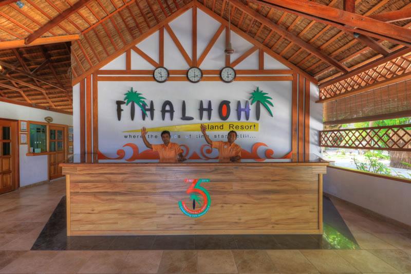 Rezeption, Willkommen, Fihalhohi Island Resort, Maldives