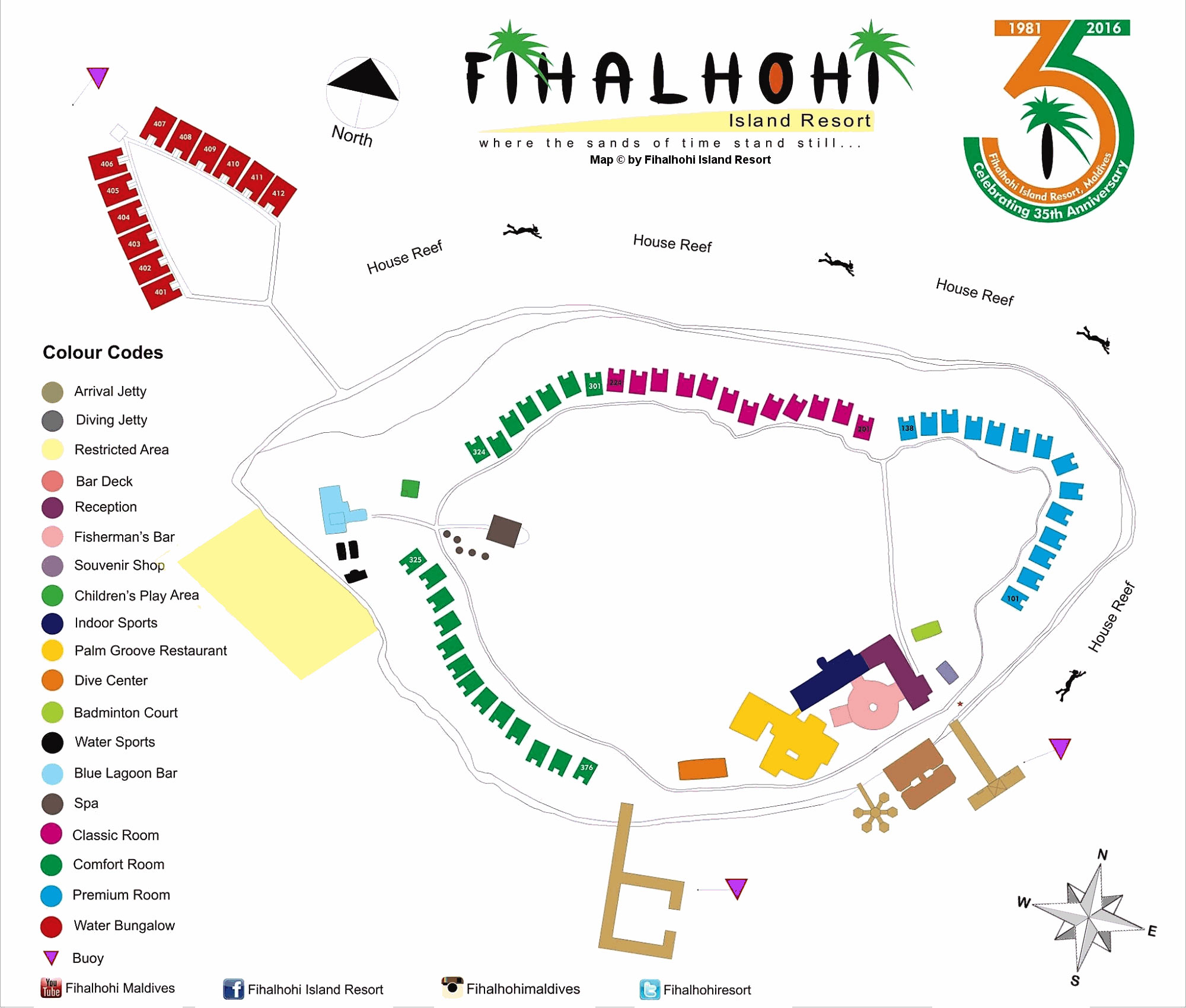 Lageplan Fihalhohi Island Resort