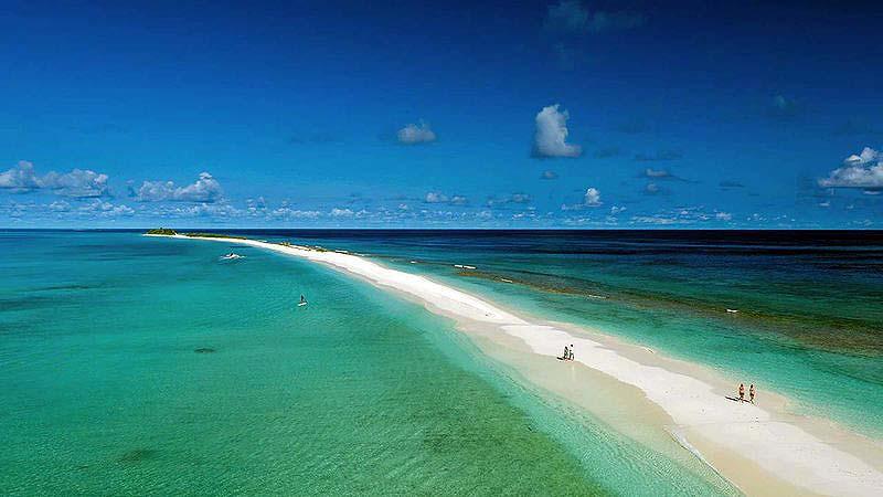 Spaziergang auf der Sandbank, Finolhu, Malediven
